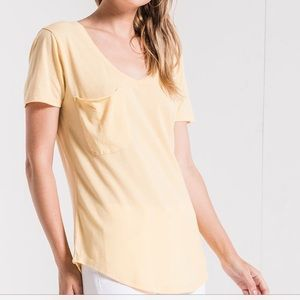 Z Supply Pocket Tee in Yellow size L NWOT